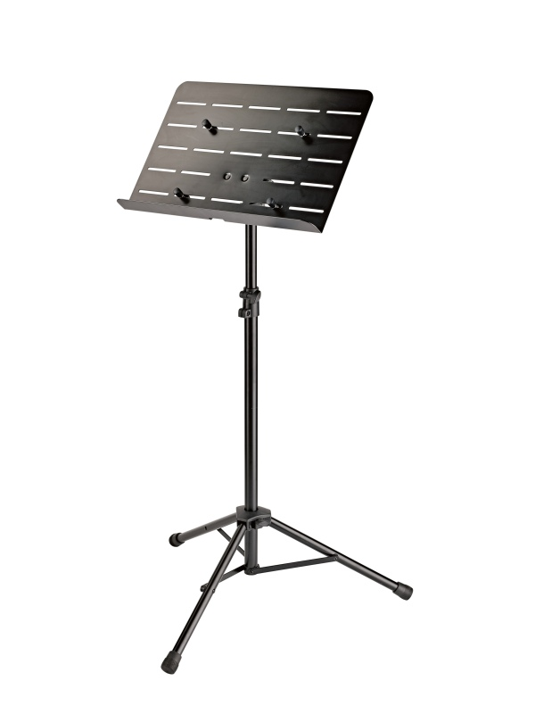 Orchestra music stand with tablet holder