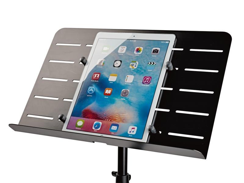 Orchesternotenpult mit Tablet-Aufnahme