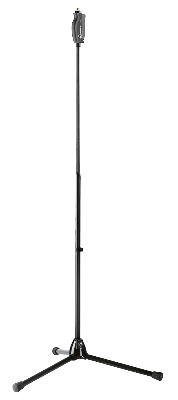 One hand microphone stand