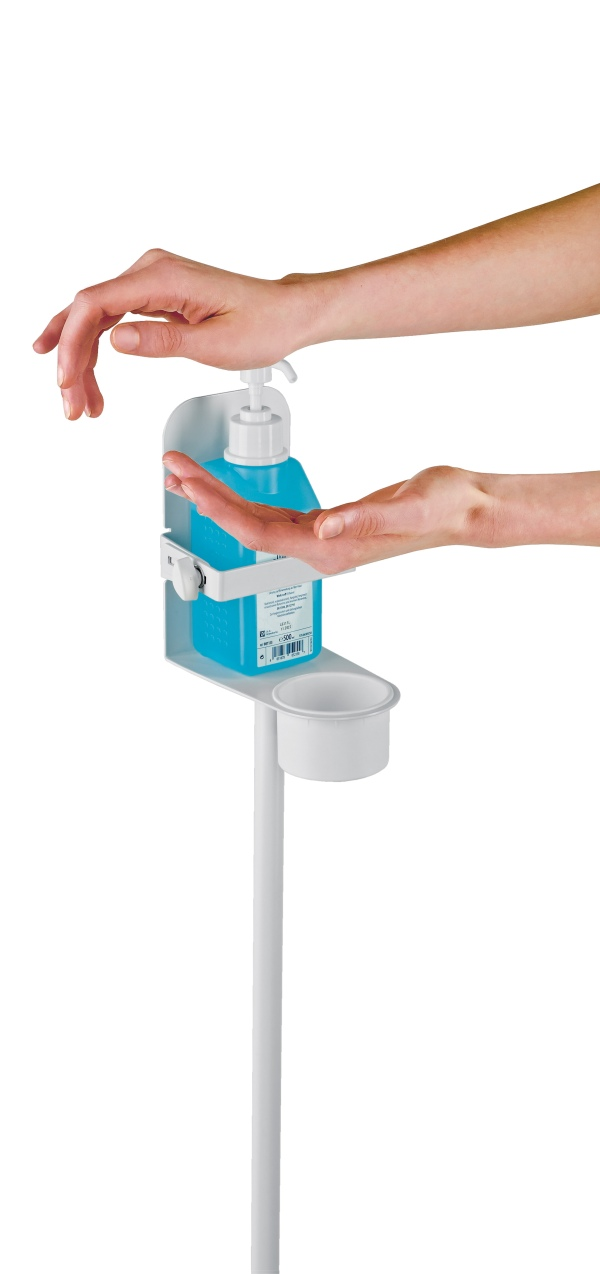 Disinfectant stand with bracket XL