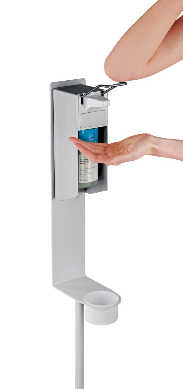 Disinfectant stand for Euro dispenser