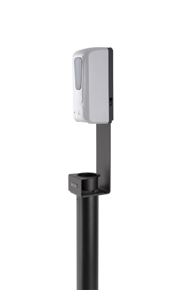 Disinfectant column stand including sensor dispenser